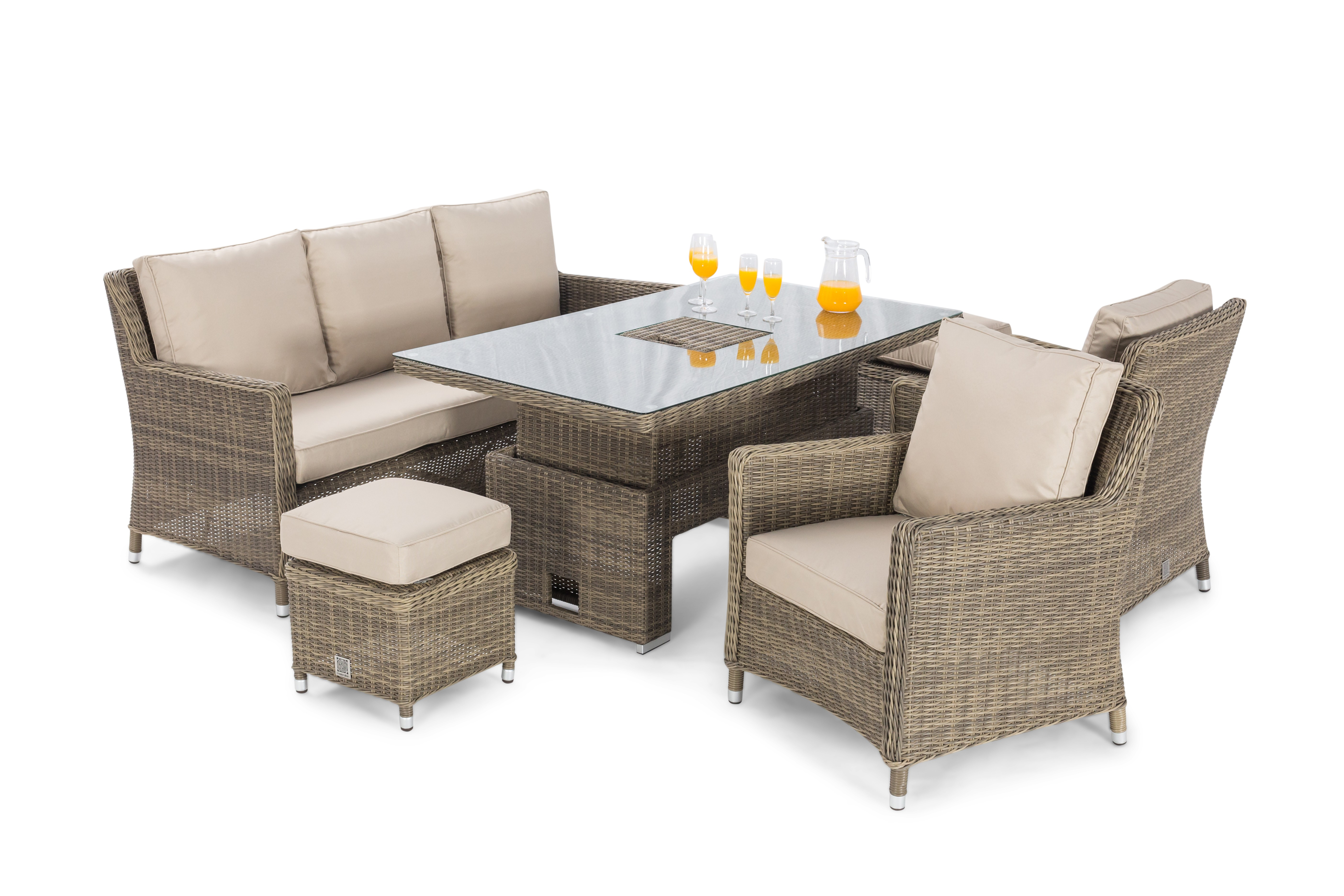 Maze Rattan Winchester Sofa Dining Set Ice Bucket And