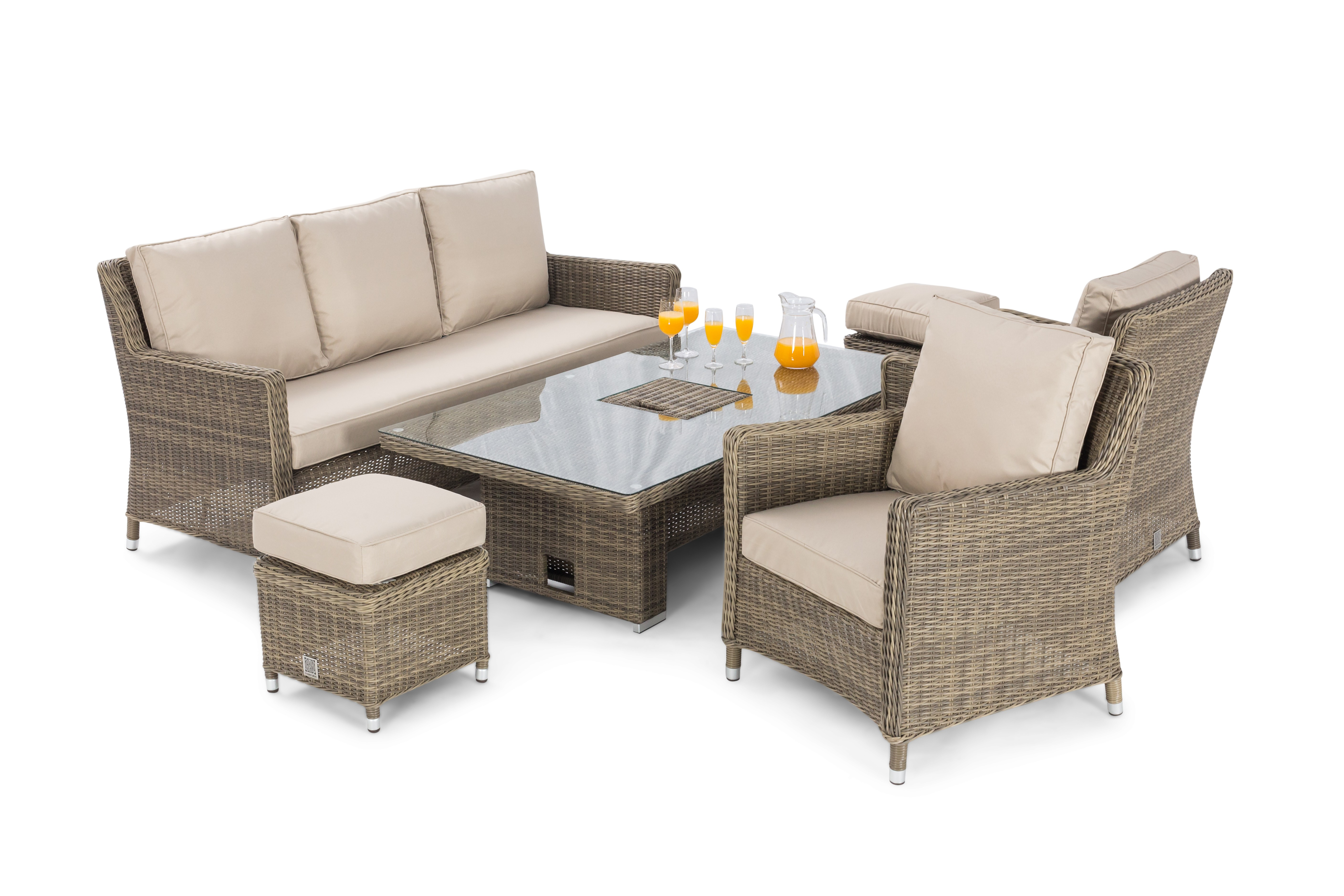 maze rattan winchester sofa dining set ice bucket and. Black Bedroom Furniture Sets. Home Design Ideas
