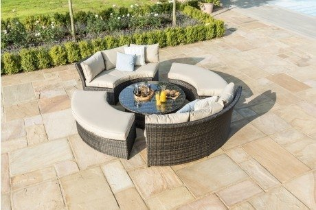 Maze Rattan Chelsea Curved Sofa Set And Ddaybed
