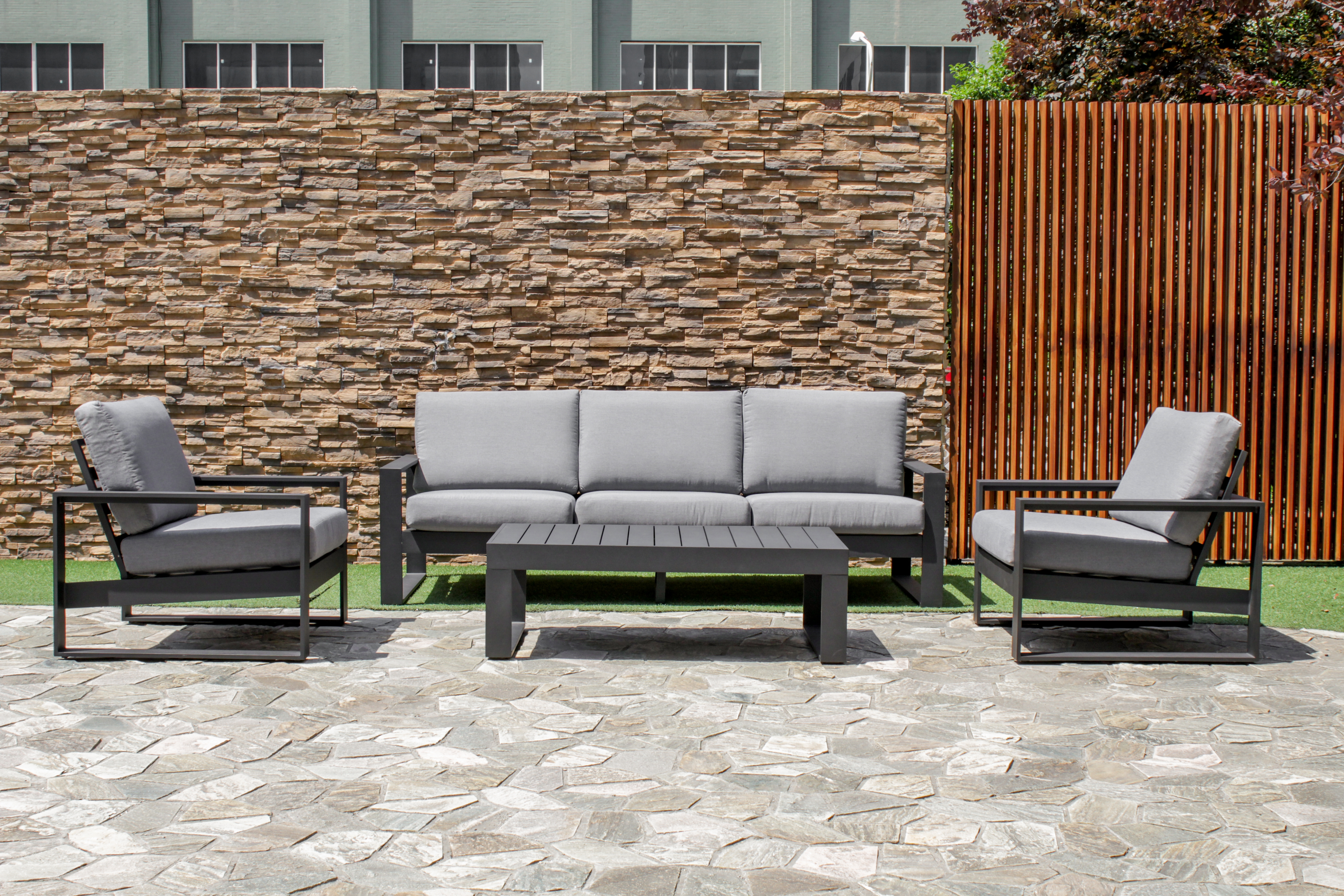 Maze Amalfi 3 seat Garden Furniture Set
